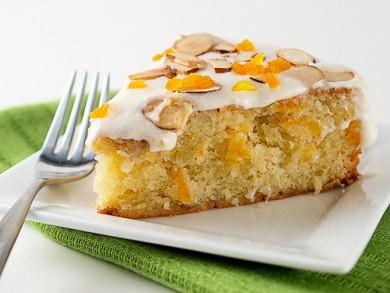 Рецепт Абрикосовый торт с миндалем