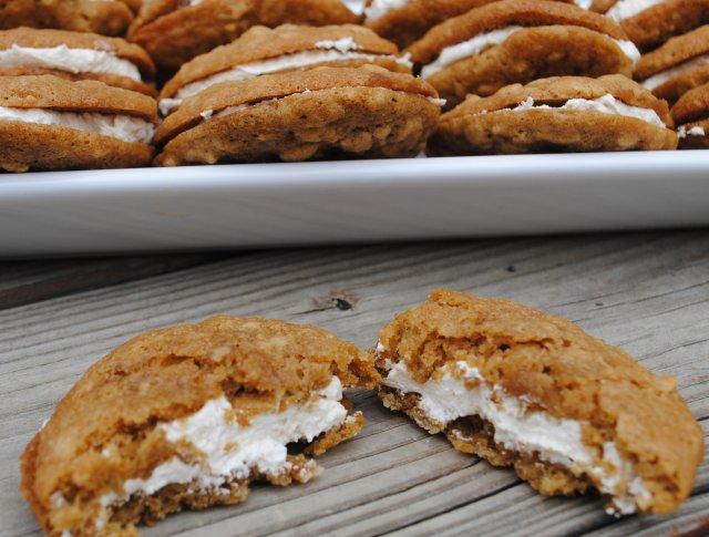 Овсяное печенье с кремом