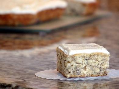 Рецепт Банановый пирог с ванильной глазурью