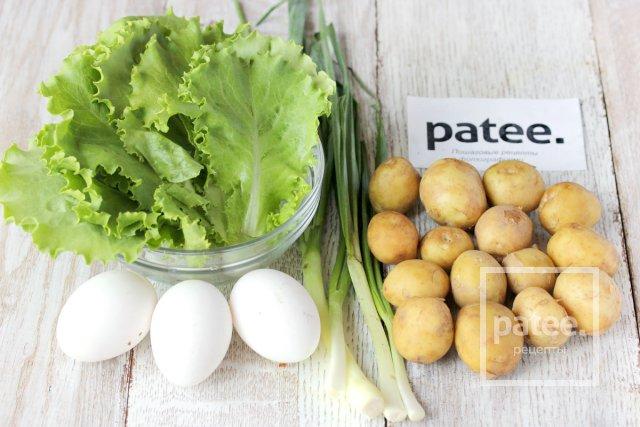 Салат из молодого картофеля со сметанно-горчичной заправкой