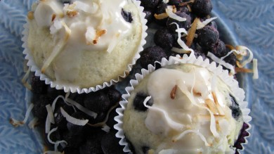 Рецепт Кокосовые кексы с черникой