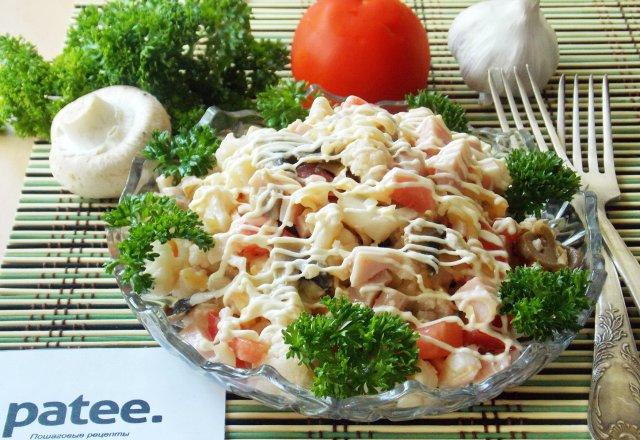 рецепт салат из капусты и ветчины рецепт
