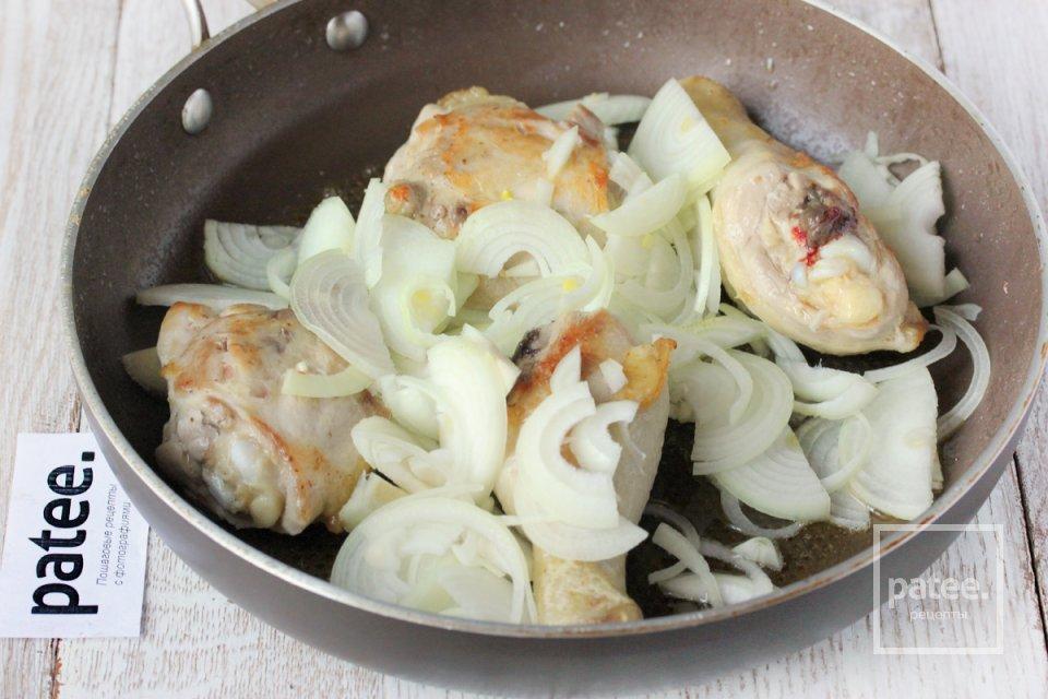 Куриные окорочка с вишней и розмарином