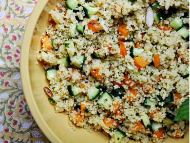 Рецепт Салат из кускуса с абрикосами и мятой