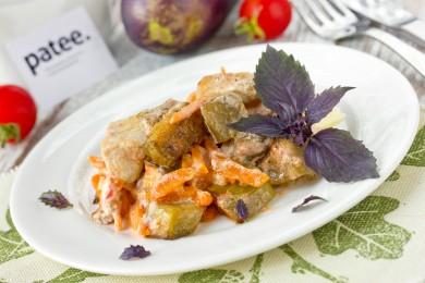 Рецепт Баклажаны с куриным филе под томатно-сметанным соусом