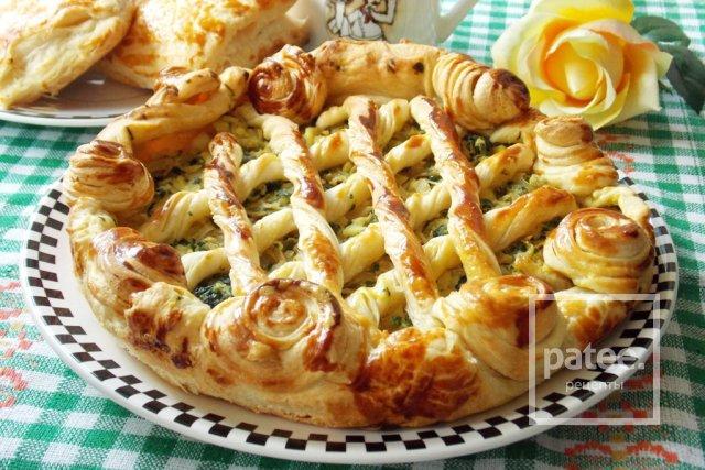 Заливной пирог с капустой и сыром на кефире рецепт 113