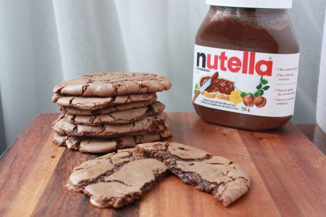 овсяное печенье с нутеллой рецепт