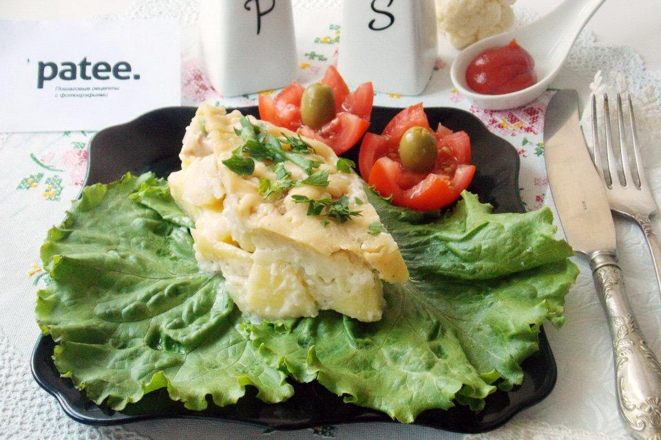 Гратен с картофелем и цветной капустой