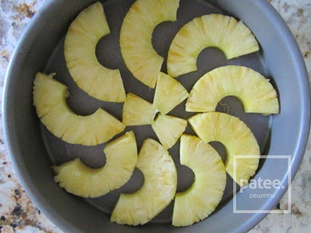 Ананасовый пирог с карамелью