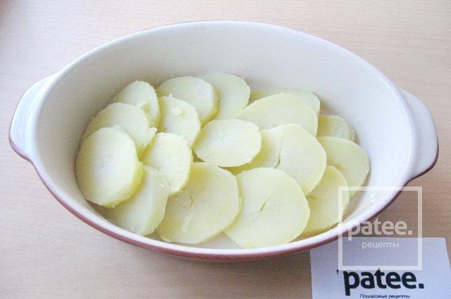 Запеканка из форели с картофелем
