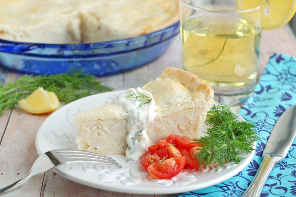 Скандинавский рыбный пирог с копченой горбушей, пошаговый рецепт с фото