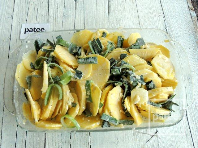 Картофельный гратен с тыквенными семечками