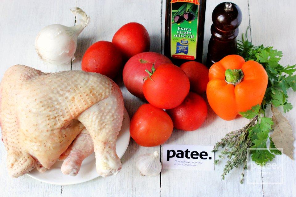Курица в ароматном томатном соусе в мультиварке