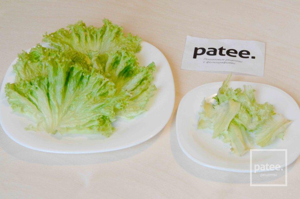 Салат с креветками и картофелем