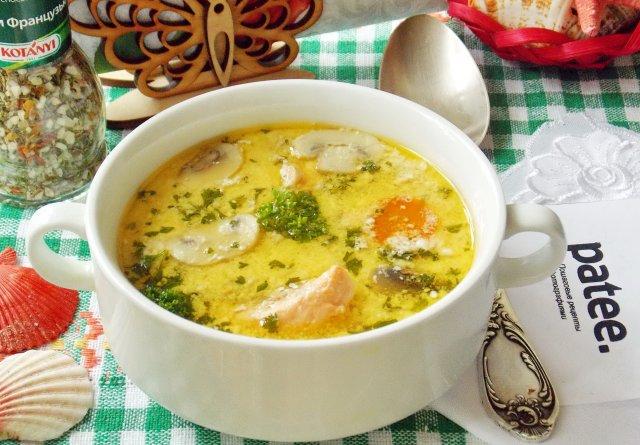 рецепты пошаговые суп из семге