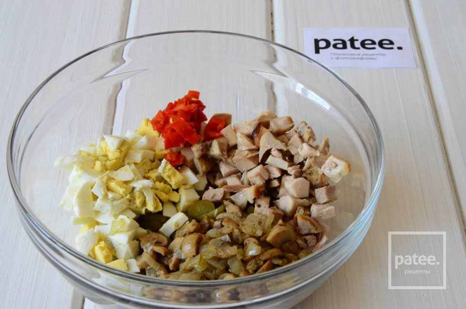 Салат из копченой курицы сманго иавокадо , пошаговый рецепт с фото