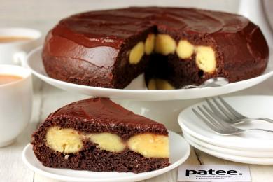 Рецепт Шоколадный пирог с творожными шариками в мультиварке — рецепт для мультиварки
