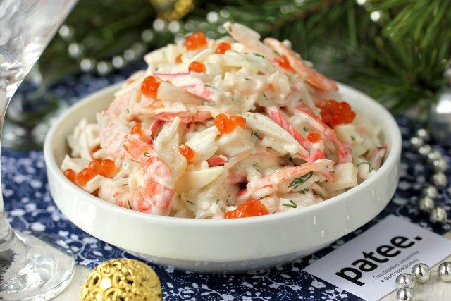 Что добавить в салат с морепродуктами