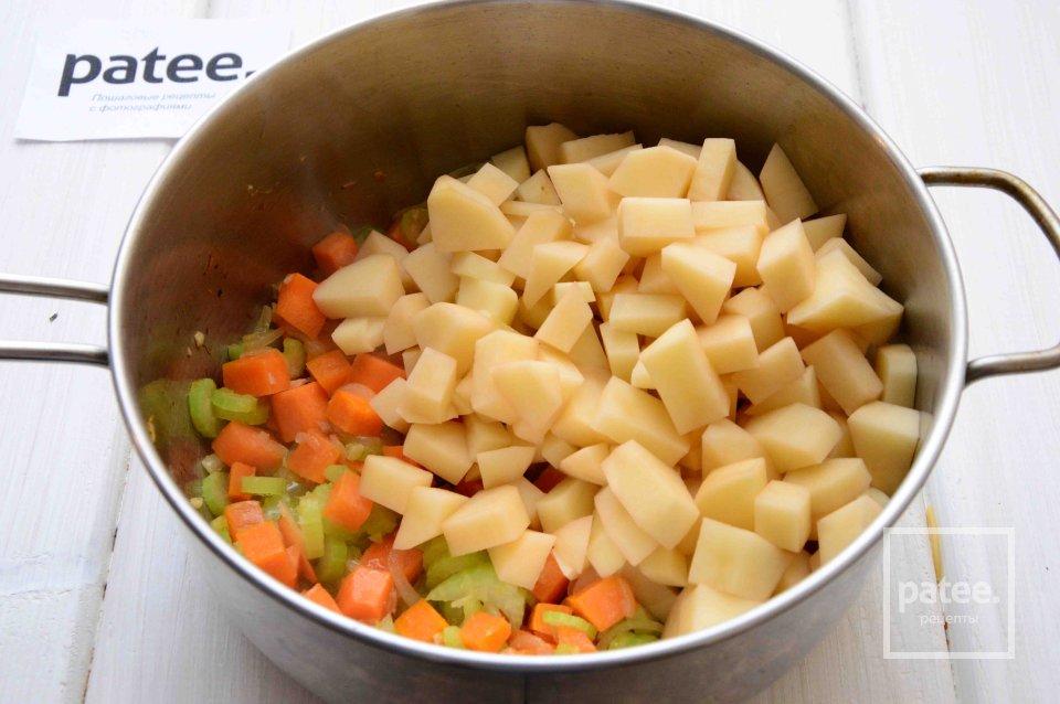 Сосиски с овощным гарниром