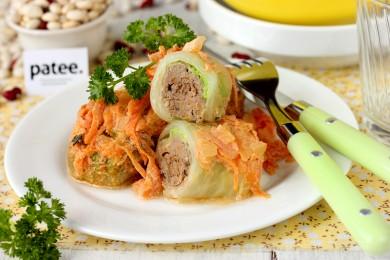 Рецепт Голубцы с куриной печенью и фасолью