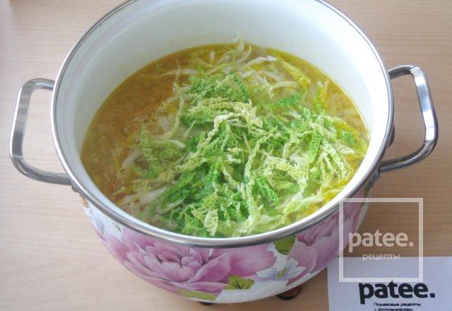 Овощной суп с пекинской и савойской капустой - Шаг 11