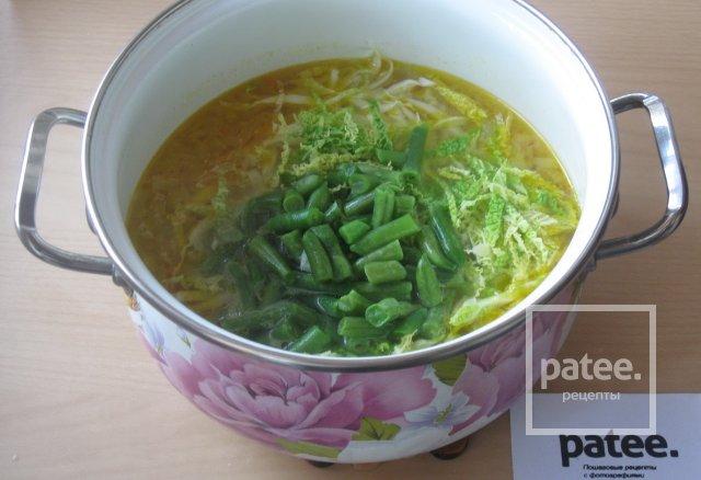Овощной суп с пекинской и савойской капустой - Шаг 12