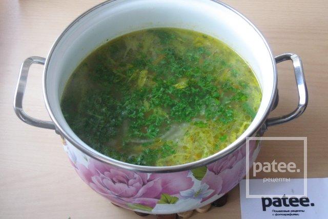 Овощной суп с пекинской и савойской капустой - Шаг 14