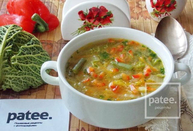 Овощной суп с пекинской и савойской капустой - Шаг 15