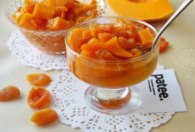 Рецепт Варенье из тыквы и кураги