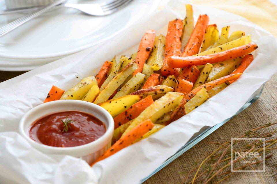 Овощи фри с пряными травами
