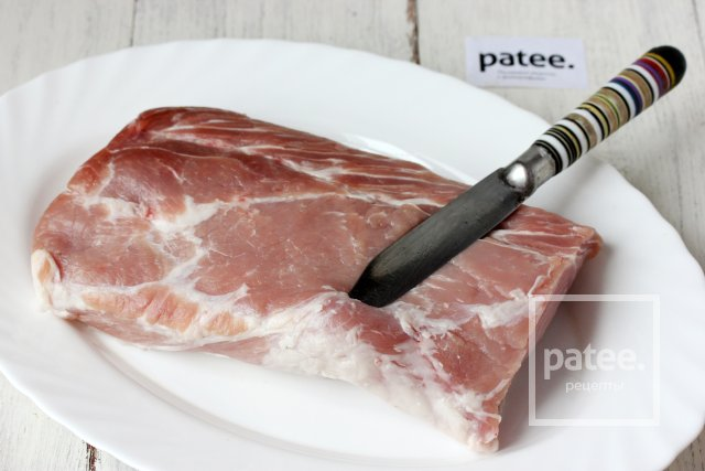 Запечённая свиная корейка