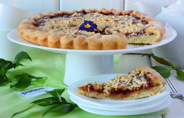 рецепт пая с малиновым вареньем