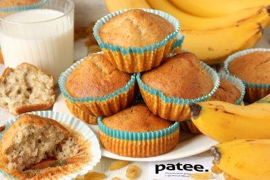 Рецепт Банановые кексы с изюмом и маком