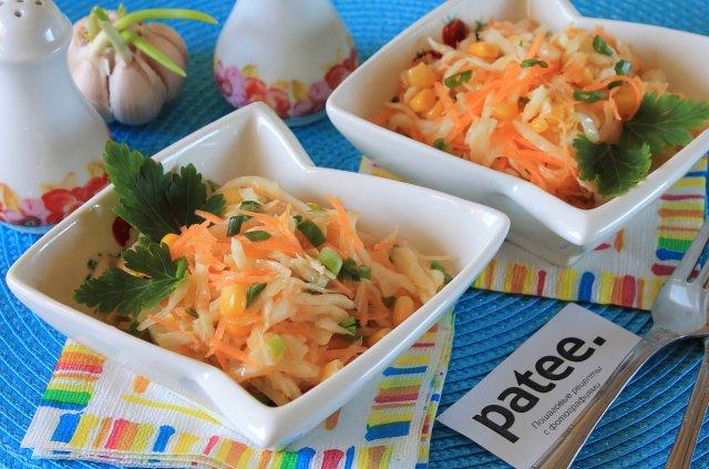 Салат из капусты ветчины чеснок