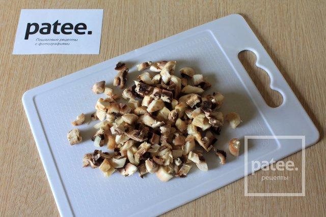 Штрудель из теста фило с грибами