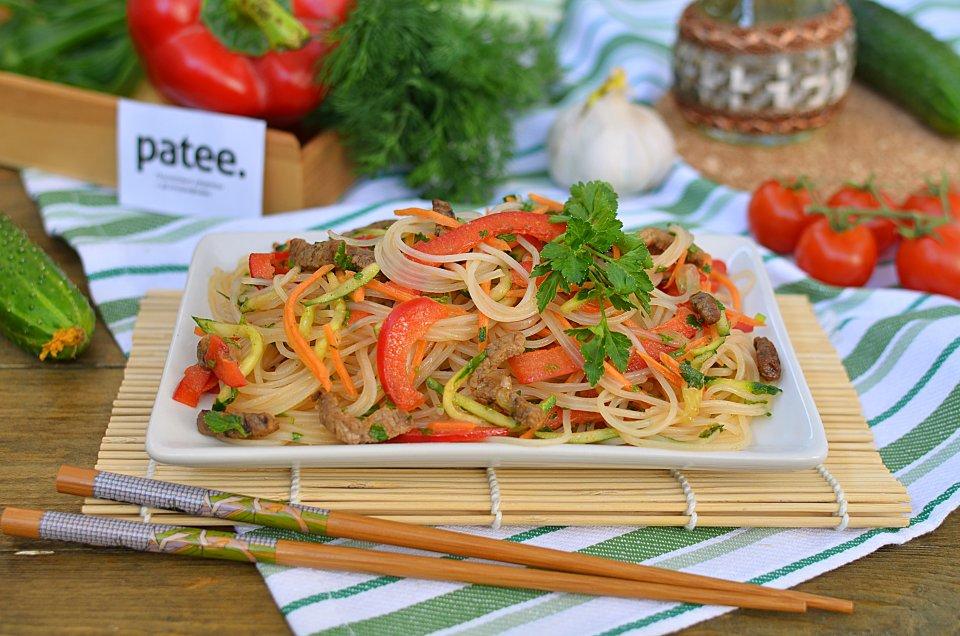 Фунчеза с овощами и мясом