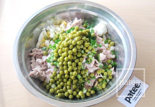 салат с отварной курицей рецепт с фото