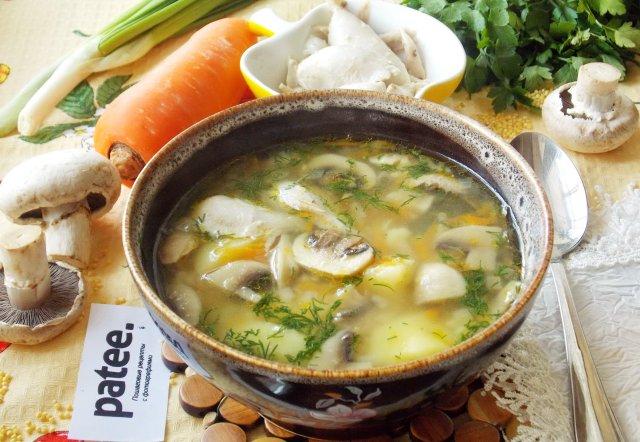 Куриный суп с грибами рецепты