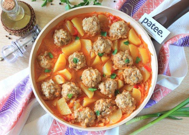 рецепт тефтелей с картошкой