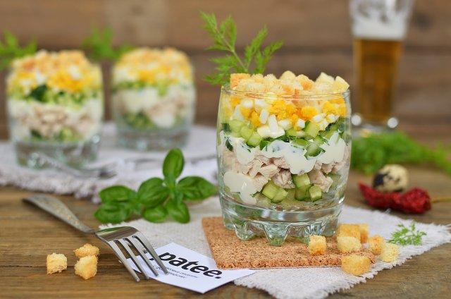Салат с куриным филе Ратибор