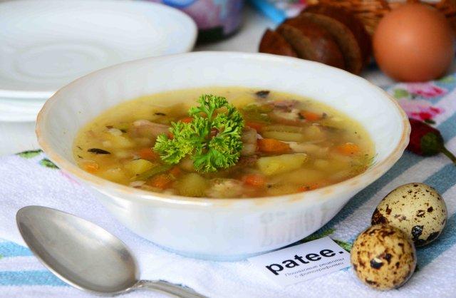 Рыбный суп из консервированной сельди