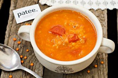 Рецепт Томатно - чечевичный суп
