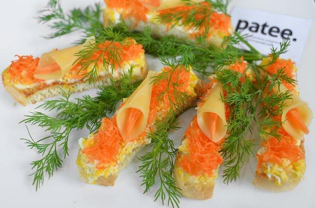 Бутерброды с морковью