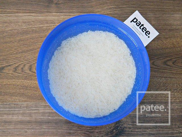 Отварной рис с шафраном