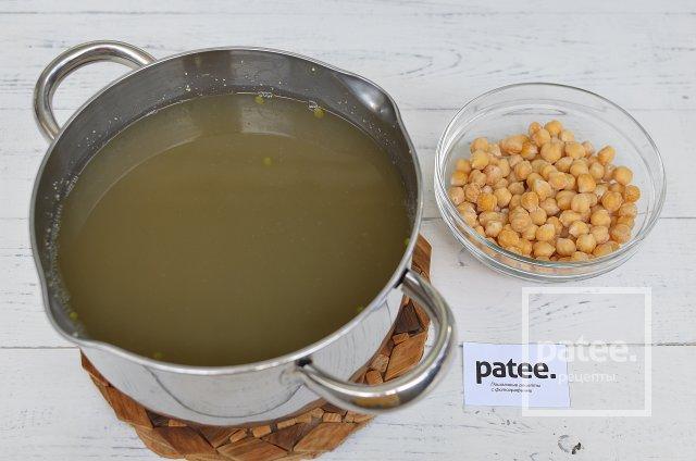 Чечевичный суп с нутом и машем