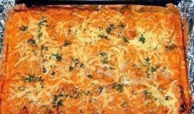 Рецепт Фаршированные каннеллони, запеченные с сыром