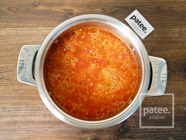 Томатный суп с кускусом