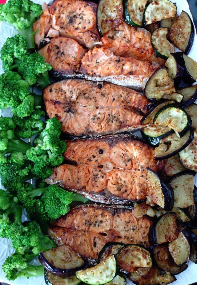 семга в духовке с овощами рецепт с фото