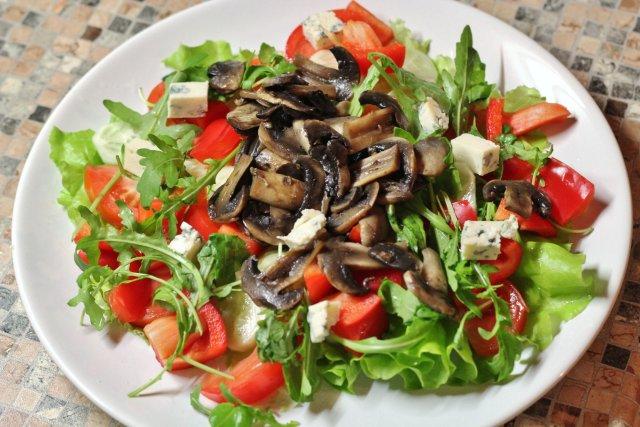 May с шампиньонами салат Овощной жареными what you may