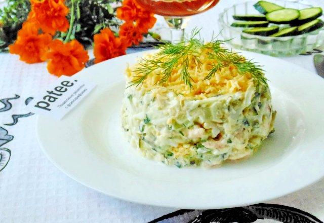 Креветки в рассоле салат